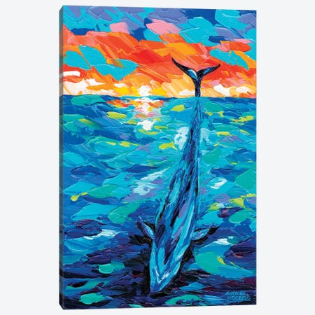 Ocean Friends II Canvas Print #VIT85} by Carolee Vitaletti Canvas Artwork