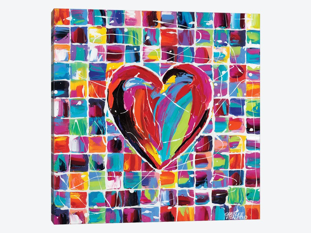 Hearts Of A Different Color II by Carolee Vitaletti 1-piece Canvas Art Print