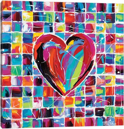 Hearts Of A Different Color II Canvas Art Print