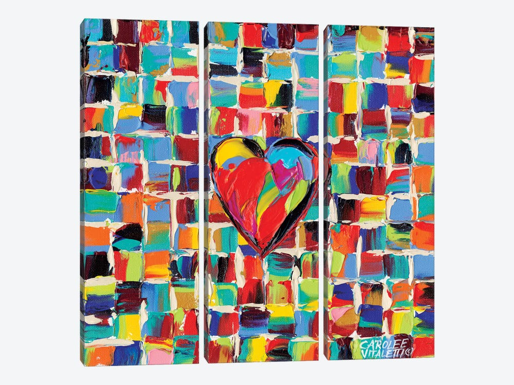 Love Of Color I by Carolee Vitaletti 3-piece Canvas Artwork