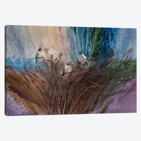 Bush Of Viburnum 3-Piece Canvas #VKH11} by Vasyl Khodakivskyi Art Print