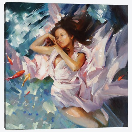 Flirt Canvas Print #VKH17} by Vasyl Khodakivskyi Canvas Artwork