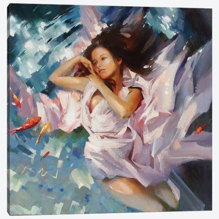 Flirt Canvas Print #VKH17} by Vasyl Khodakivskyi Canvas Artwork