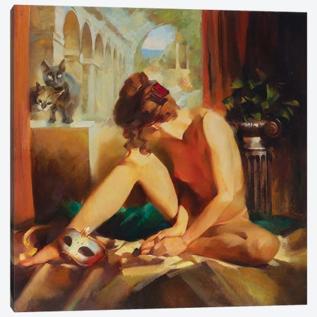Guests Are Coming Canvas Print #VKH22} by Vasyl Khodakivskyi Canvas Artwork