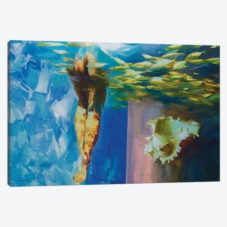 Gulf Stream Canvas Print #VKH23} by Vasyl Khodakivskyi Canvas Artwork