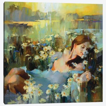 In Chamomile Canvas Print #VKH25} by Vasyl Khodakivskyi Art Print