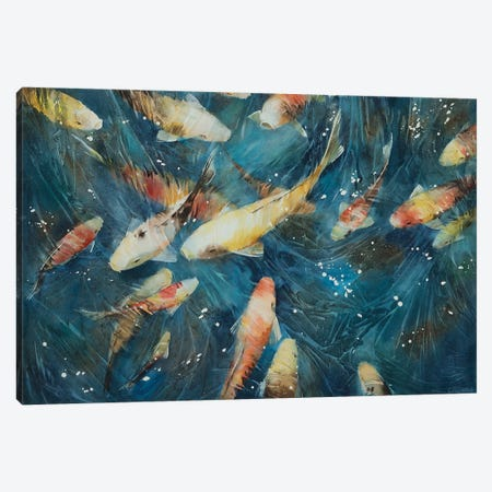 Koi Fish I Canvas Print #VKH27} by Vasyl Khodakivskyi Art Print