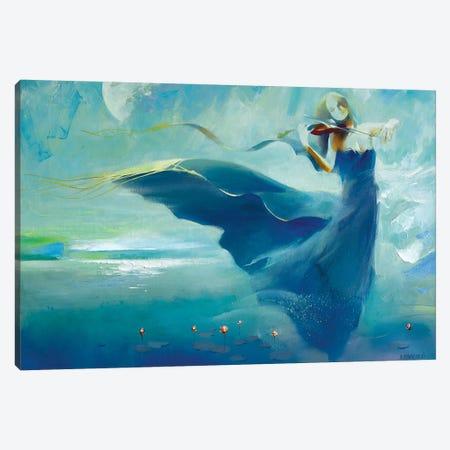 Moon Sonata Canvas Print #VKH31} by Vasyl Khodakivskyi Canvas Art Print