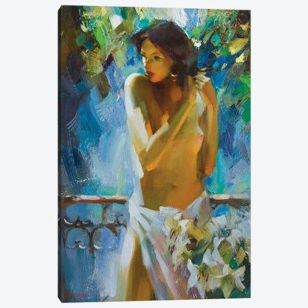 Morning On The Terrace Canvas Print #VKH32} by Vasyl Khodakivskyi Canvas Print