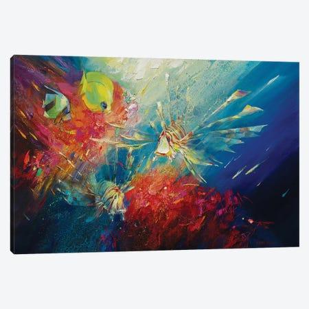 Red Coral Canvas Print #VKH37} by Vasyl Khodakivskyi Canvas Art