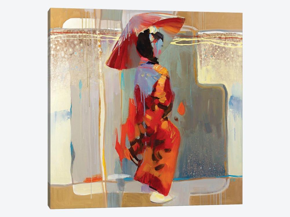 Shanghai Rain by Vasyl Khodakivskyi 1-piece Canvas Art Print