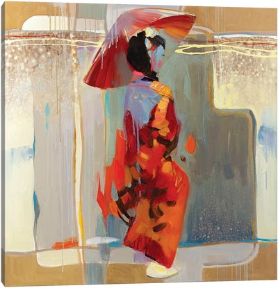 Shanghai Rain Canvas Art Print