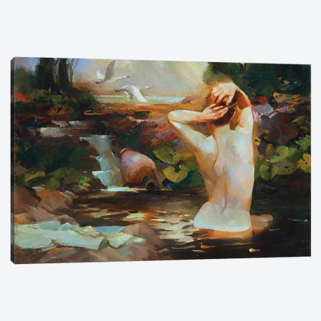 Swan Lake Canvas Print #VKH49} by Vasyl Khodakivskyi Canvas Wall Art