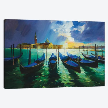 Autumn In Venice Canvas Print #VKH5} by Vasyl Khodakivskyi Canvas Artwork