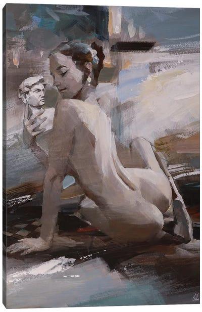 Conversation with David Canvas Art Print