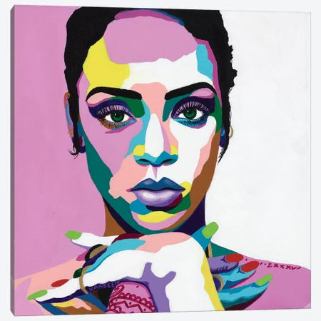 Love On The Brain Canvas Print #VKS10} by Vakseen Canvas Art