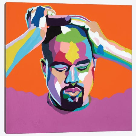 Mood Kanye Canvas Print #VKS13} by Vakseen Canvas Art