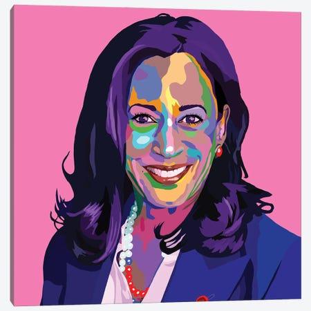 Madam Vice President Canvas Print #VKS39} by Vakseen Canvas Artwork