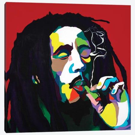 Burnin Bob Canvas Print #VKS4} by Vakseen Canvas Wall Art