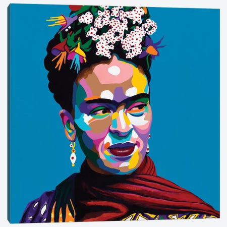 Frida Canvas Print #VKS7} by Vakseen Canvas Art