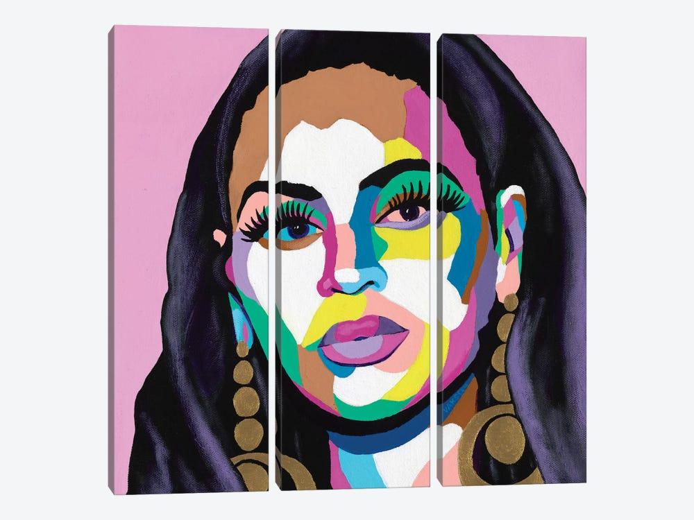 Hail The Queen by Vakseen 3-piece Canvas Print