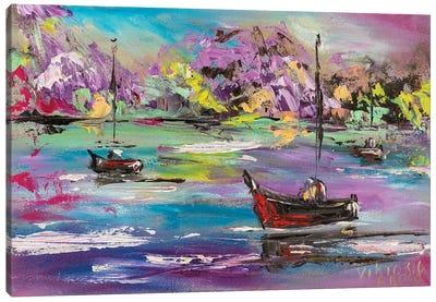 Hawaiian Paradise In Pink Canvas Art Print
