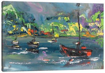 Hawaiian Paradise In Blue Canvas Art Print