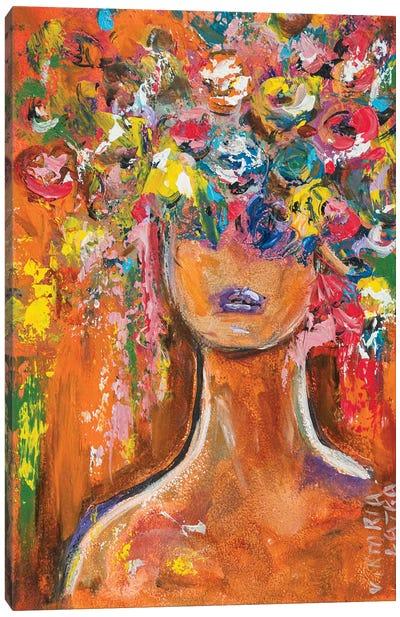 Blooming White Woman Canvas Art Print
