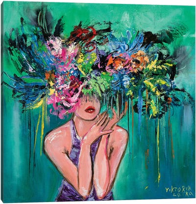 Light Spirit Blossom Canvas Art Print