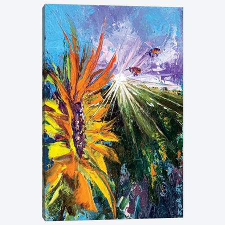 Sunflower Canvas Print #VLC10} by Valeria Luchistaya Canvas Print