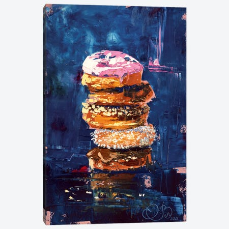 Delicious Donuts Canvas Print #VLC16} by Valeria Luchistaya Canvas Artwork