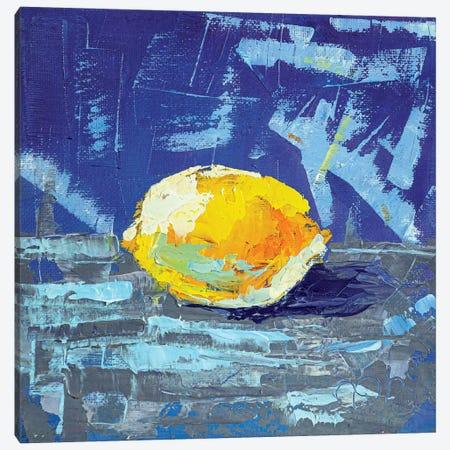 Sunny Lemon Canvas Print #VLC17} by Valeria Luchistaya Canvas Wall Art