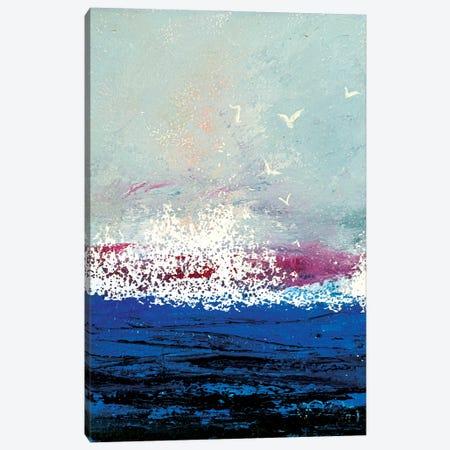 The Blue Sea Canvas Print #VLC21} by Valeria Luchistaya Canvas Art