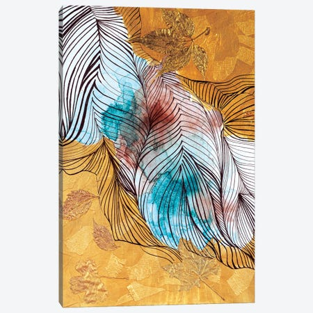 Gold Leaf Canvas Print #VLC28} by Valeria Luchistaya Canvas Artwork