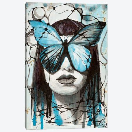Indigo Butterfly Canvas Print #VLC46} by Valeria Luchistaya Canvas Print