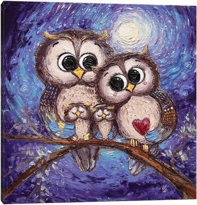 Good Owls Canvas Art Print