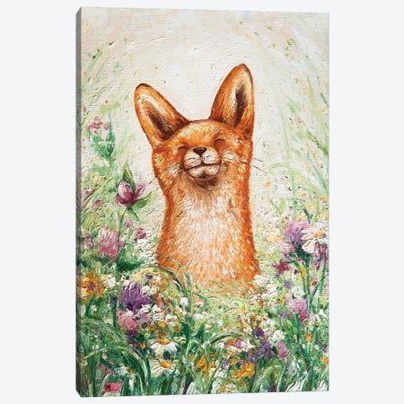 Happy Fox Canvas Print #VLK16} by Vlada Koval Canvas Artwork