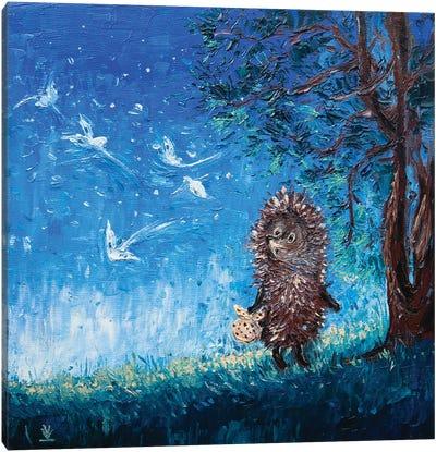 Hedgehog In The Fog Canvas Art Print