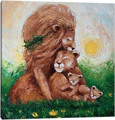 Lion Family Canvas Art Print