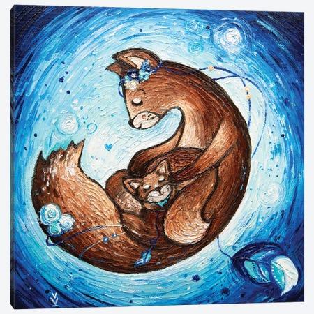 Mom's Love. Blue 3-Piece Canvas #VLK23} by Vlada Koval Canvas Art