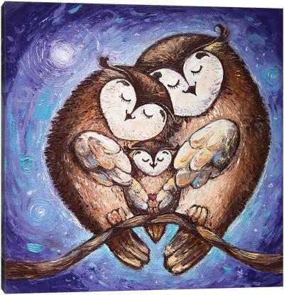 Owl Family Canvas Art Print