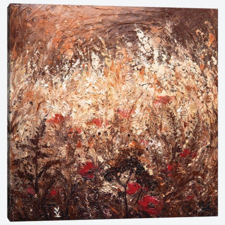 Poppies In The Field Canvas Print #VLK26} by Vlada Koval Art Print