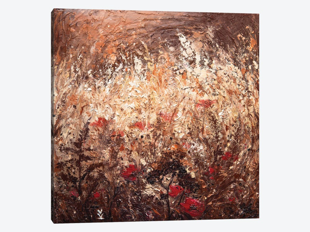 Poppies In The Field by Vlada Koval 1-piece Canvas Art Print