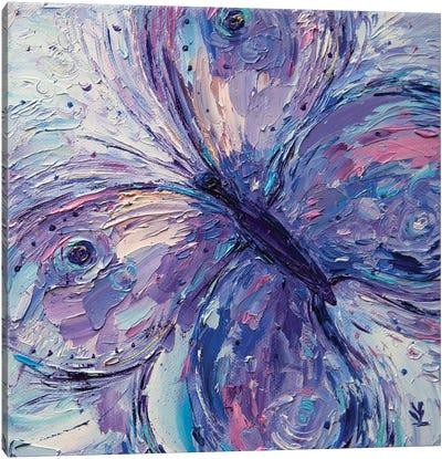 Purple Butterfly Canvas Art Print