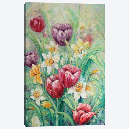 Spring Flowers Canvas Print #VLK28} by Vlada Koval Canvas Wall Art