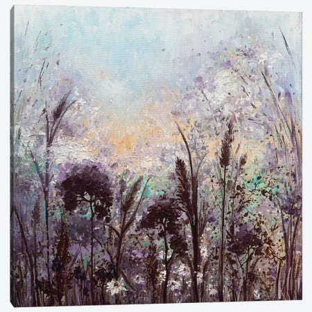 Spring Meadow Canvas Print #VLK29} by Vlada Koval Canvas Wall Art