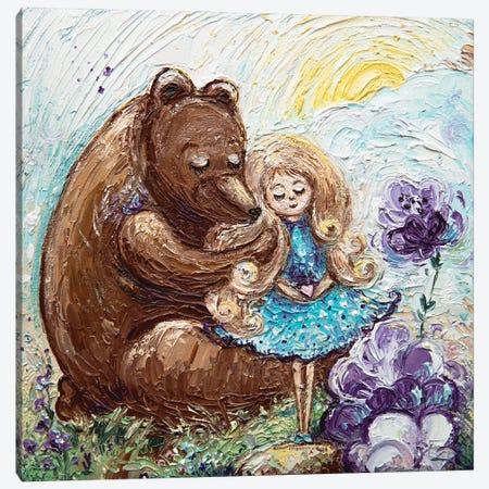 Bear And Baby Canvas Print #VLK2} by Vlada Koval Art Print