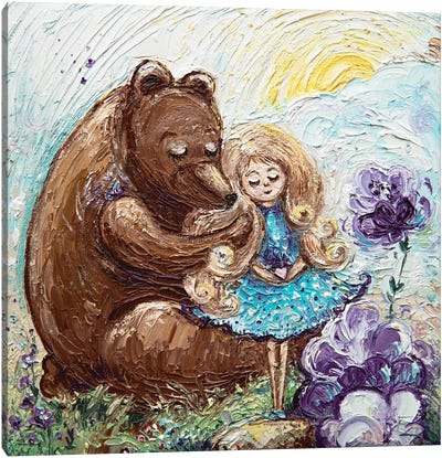 Bear And Baby Canvas Art Print