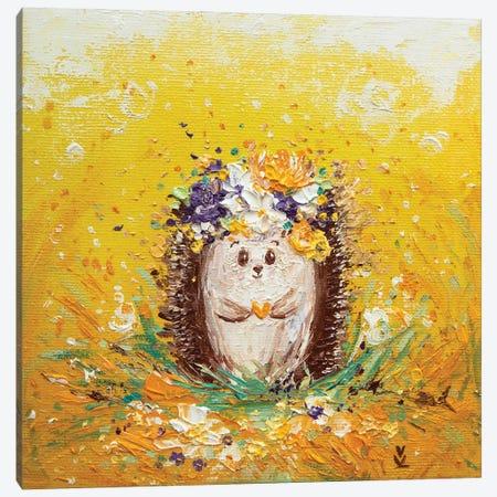 Sunny Hedgehog Canvas Print #VLK33} by Vlada Koval Art Print