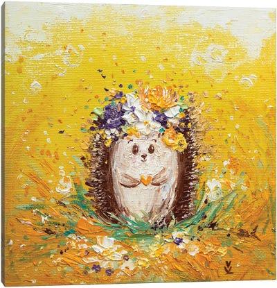 Sunny Hedgehog Canvas Art Print